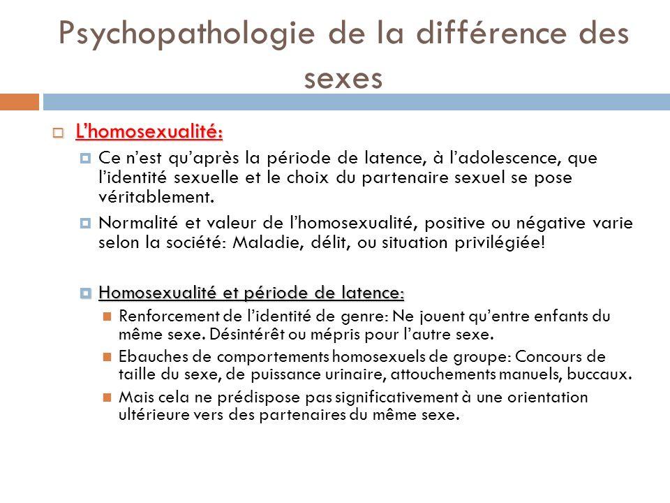 Psychopathologie de la différence des sexes