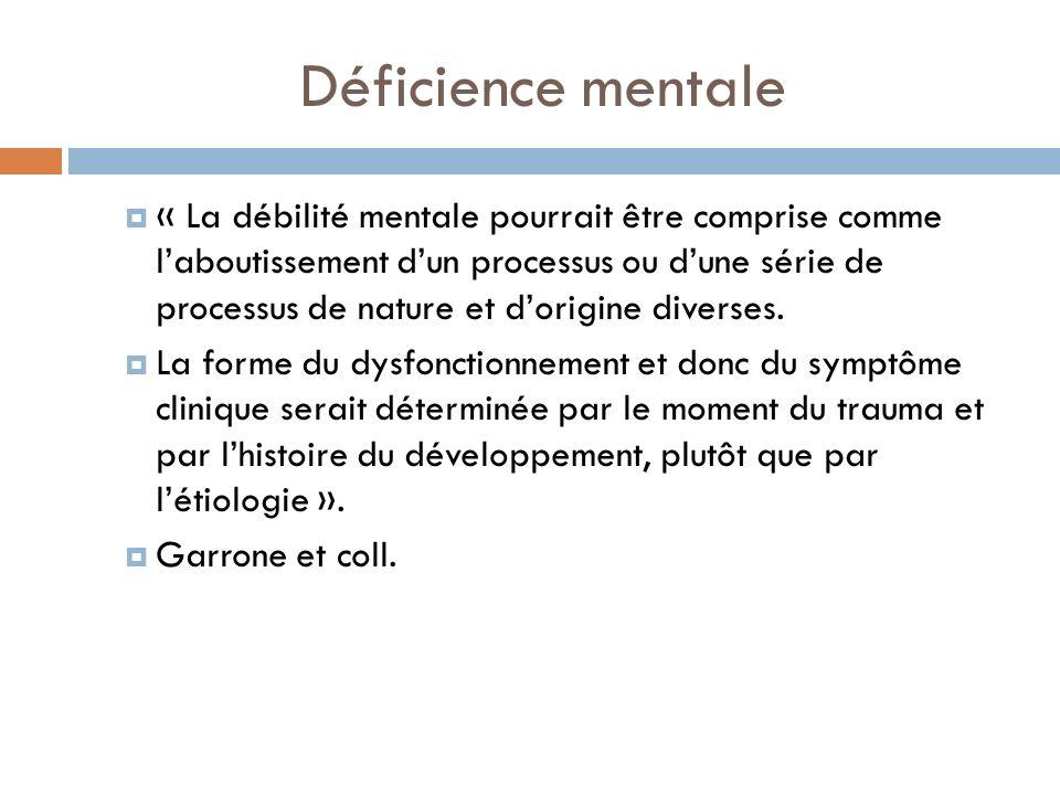 Déficience mentale