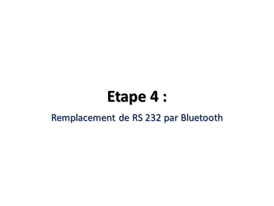 Remplacement de RS 232 par Bluetooth