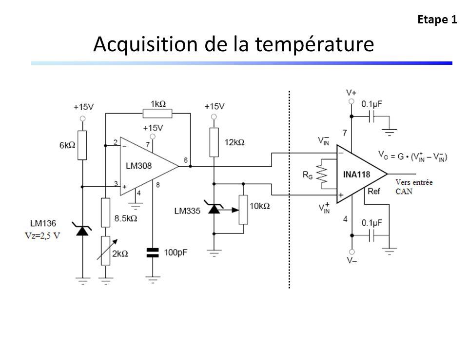 Acquisition de la température