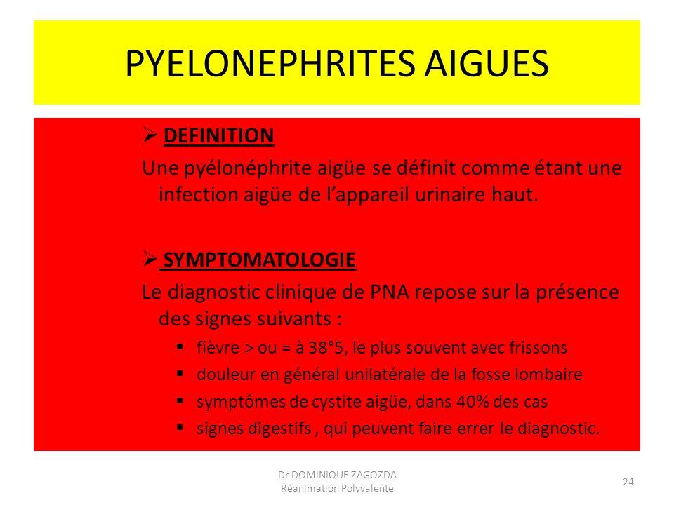 PYELONEPHRITES AIGUES