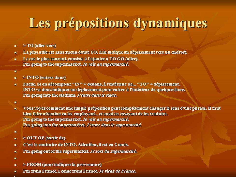 Les prépositions dynamiques
