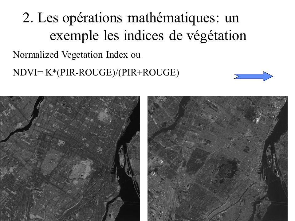 2. Les opérations mathématiques: un exemple les indices de végétation