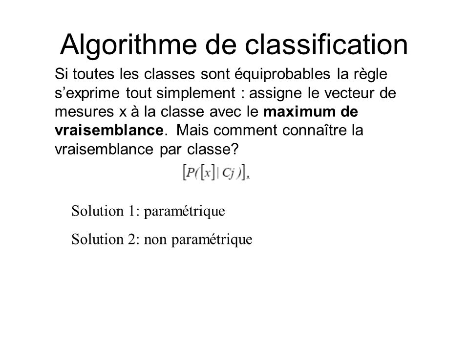 Algorithme de classification