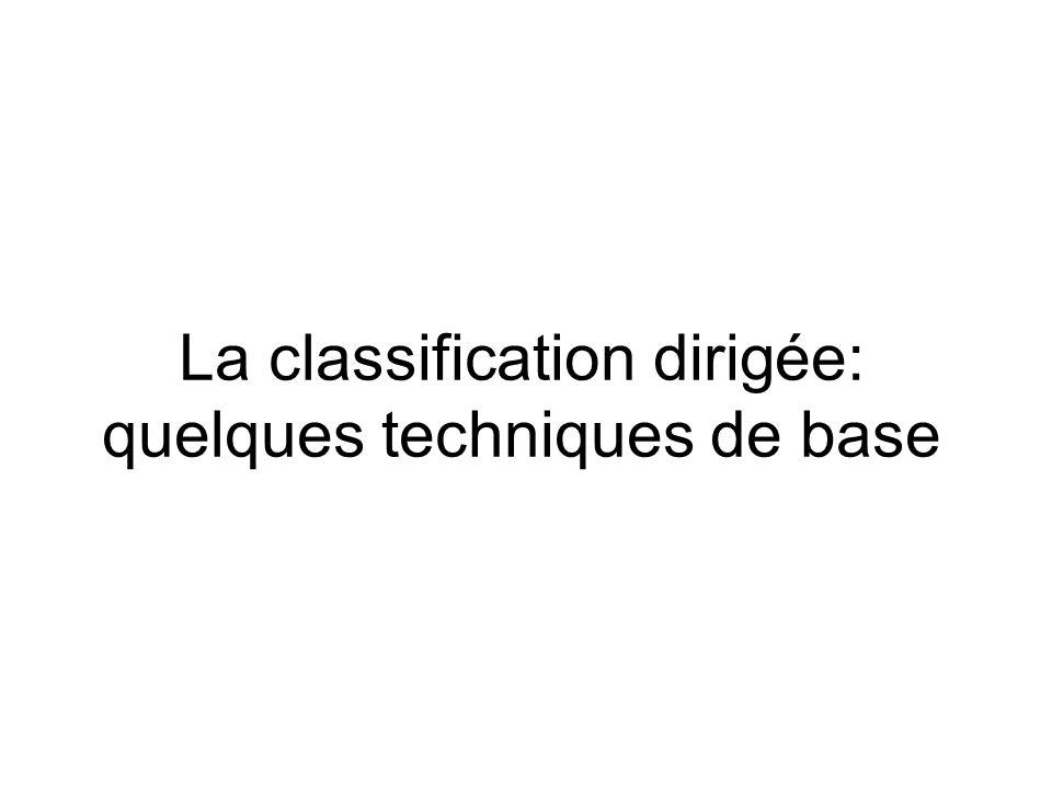 La classification dirigée: quelques techniques de base