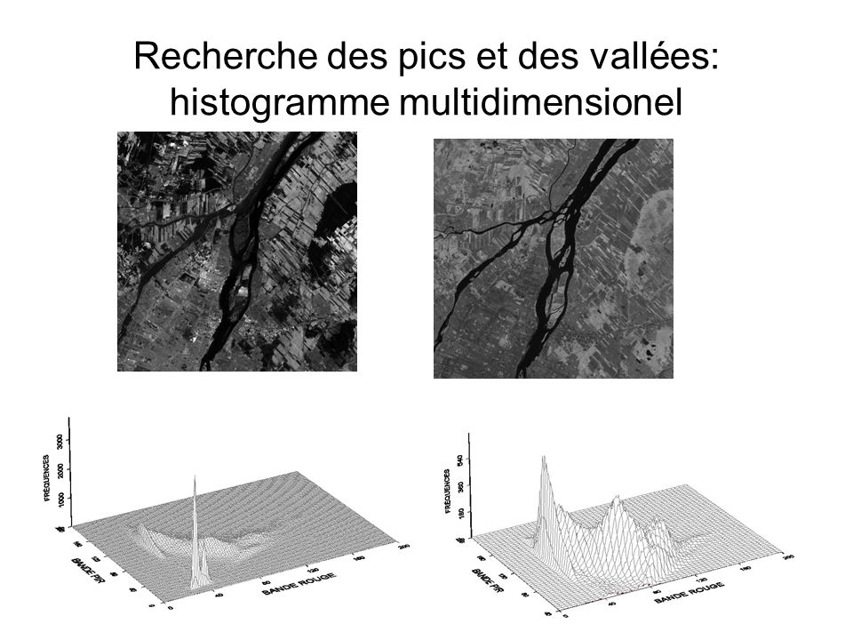 Recherche des pics et des vallées: histogramme multidimensionel