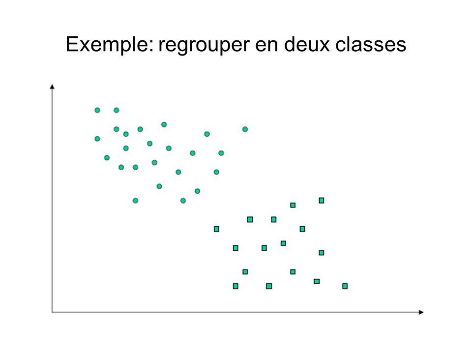 Exemple: regrouper en deux classes