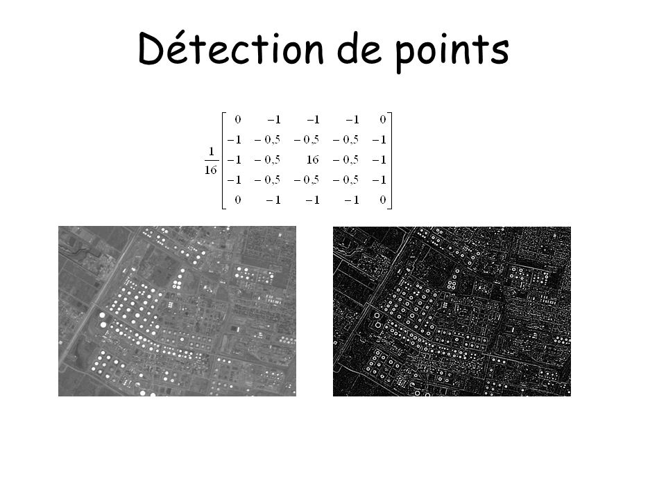 Détection de points