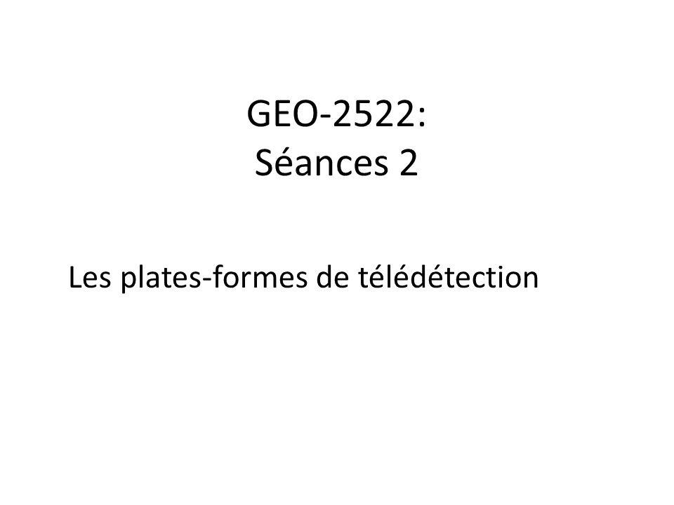 Les plates-formes de télédétection