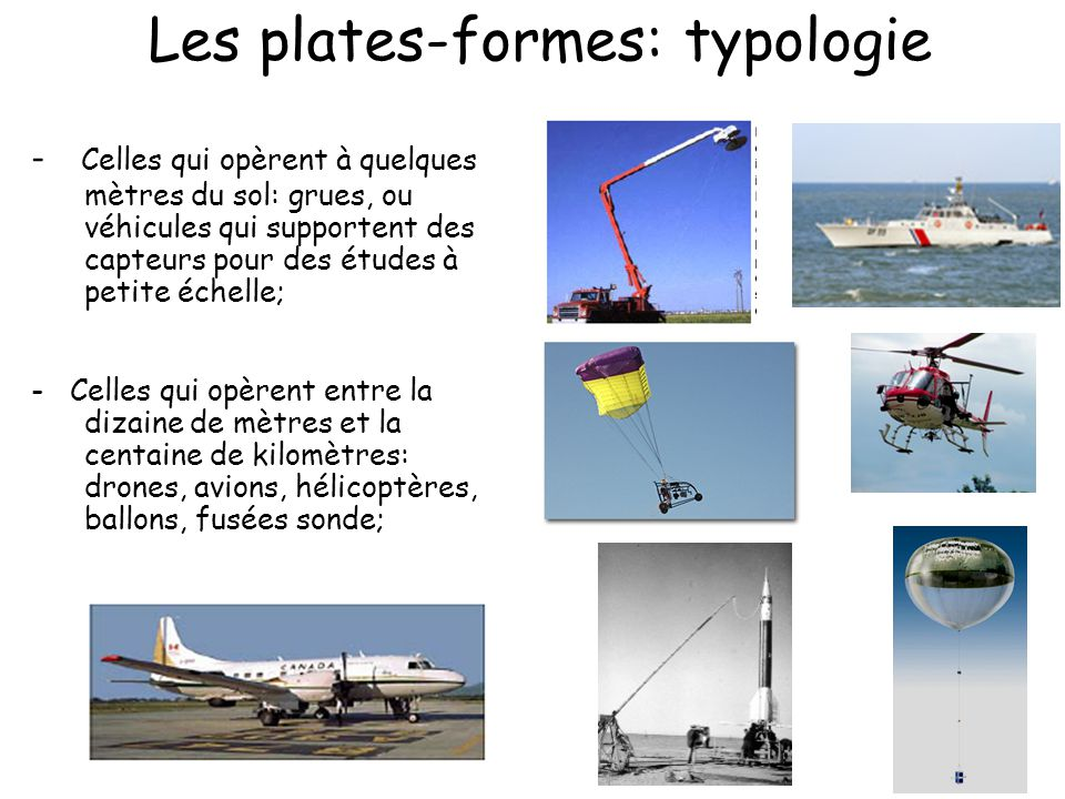 Les plates-formes: typologie