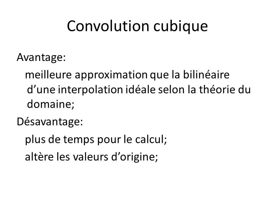 Convolution cubique Avantage: