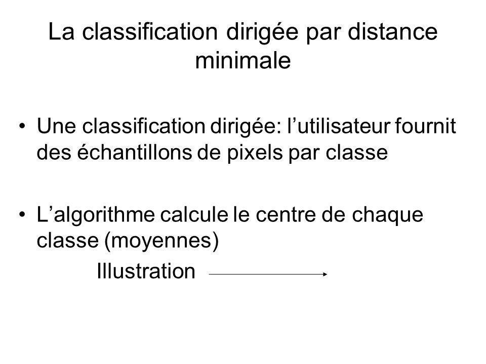 La classification dirigée par distance minimale