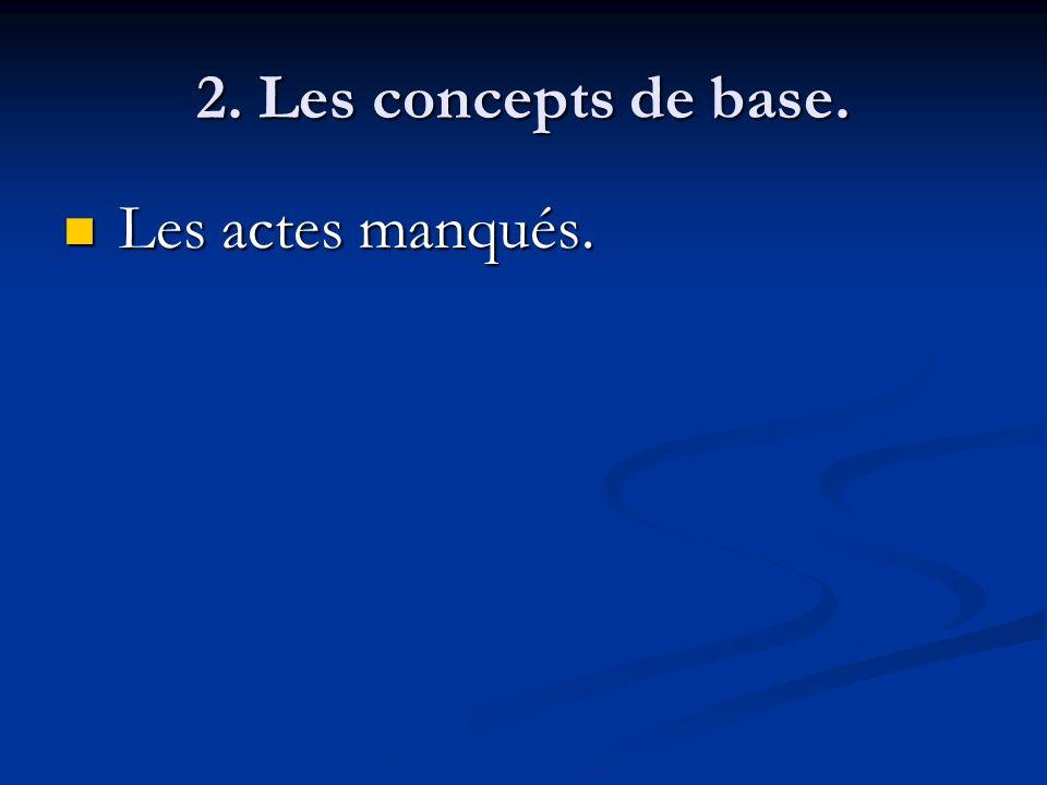 2. Les concepts de base. Les actes manqués.