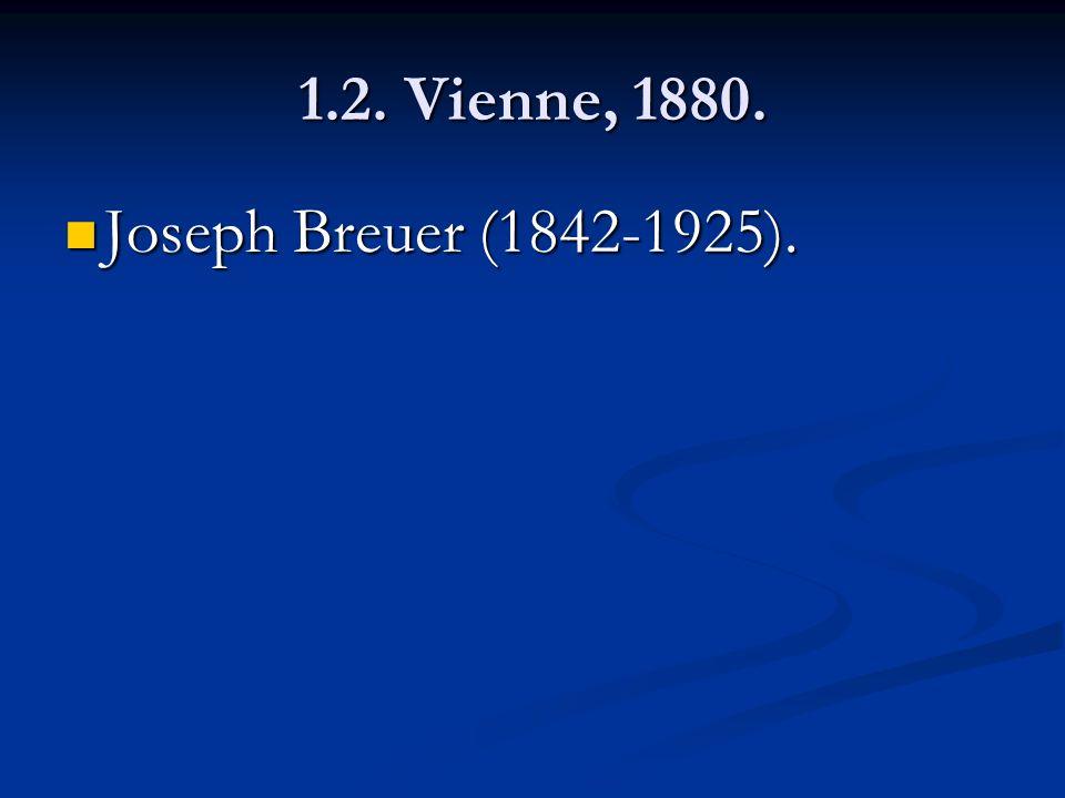 1.2. Vienne, 1880. Joseph Breuer (1842-1925).