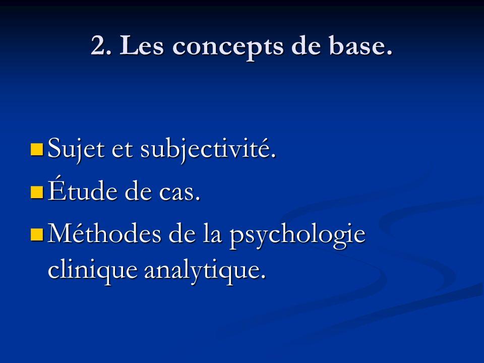 2. Les concepts de base. Sujet et subjectivité. Étude de cas.