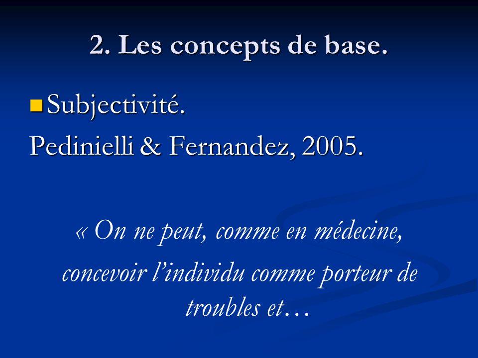 Pedinielli & Fernandez, 2005. « On ne peut, comme en médecine,
