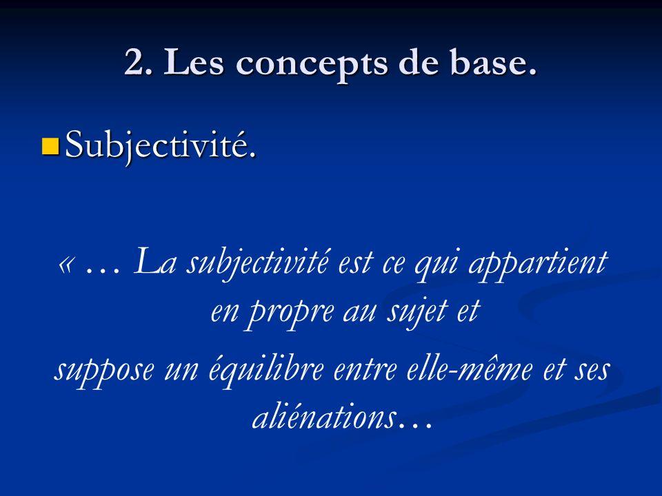 « … La subjectivité est ce qui appartient en propre au sujet et