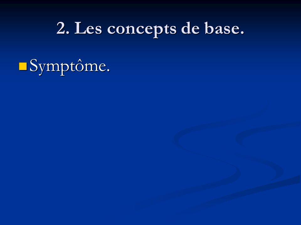 2. Les concepts de base. Symptôme.