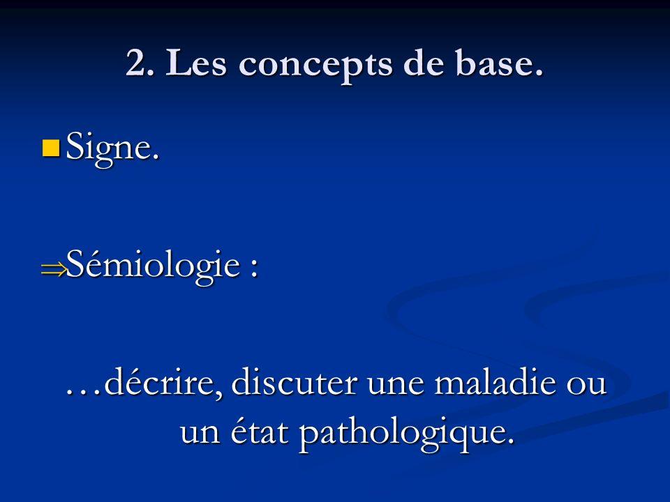 …décrire, discuter une maladie ou un état pathologique.