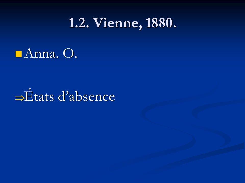 1.2. Vienne, 1880. Anna. O. États d'absence