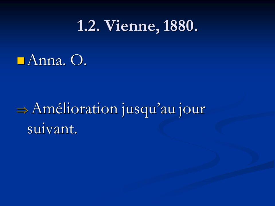 1.2. Vienne, 1880. Anna. O. Amélioration jusqu'au jour suivant.