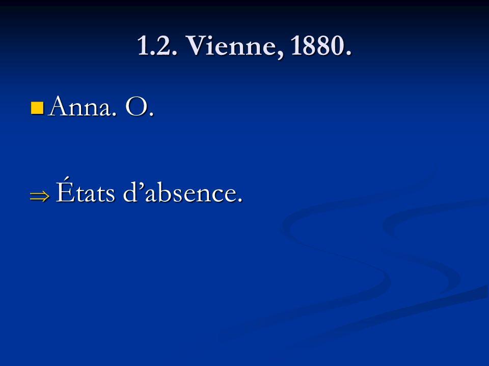 1.2. Vienne, 1880. Anna. O. États d'absence.