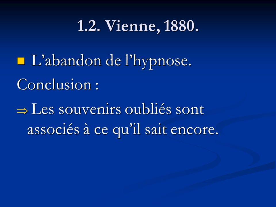 1.2. Vienne, 1880. L'abandon de l'hypnose.