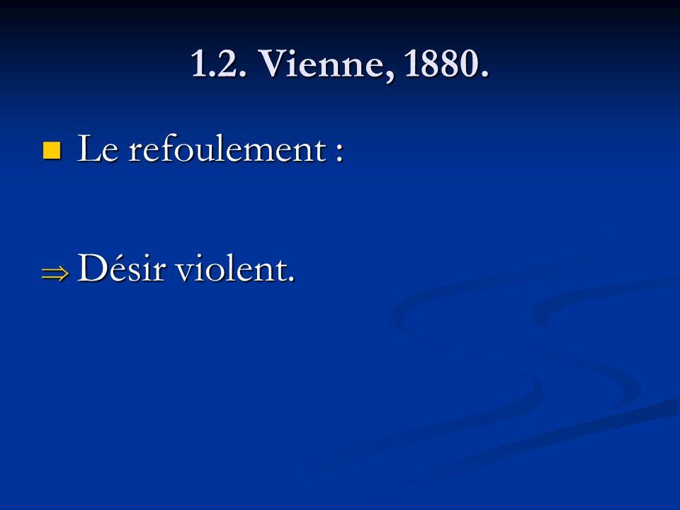 1.2. Vienne, 1880. Le refoulement : Désir violent.