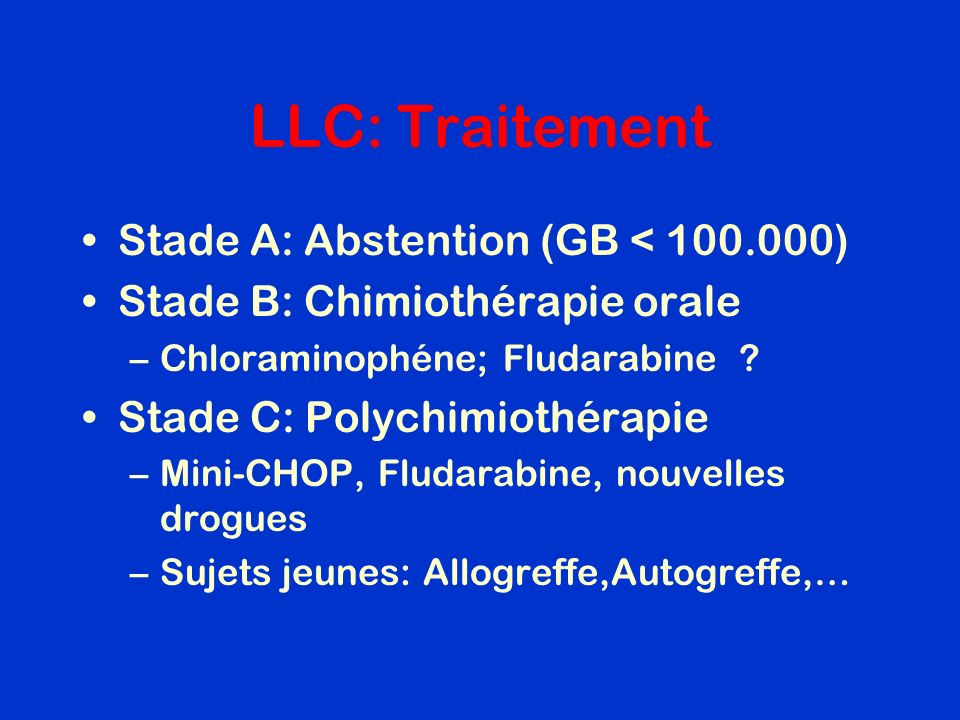 LLC: Traitement Stade A: Abstention (GB < 100.000)