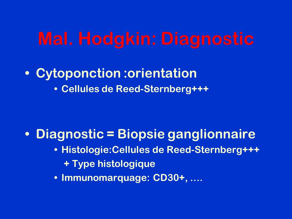 Mal. Hodgkin: Diagnostic