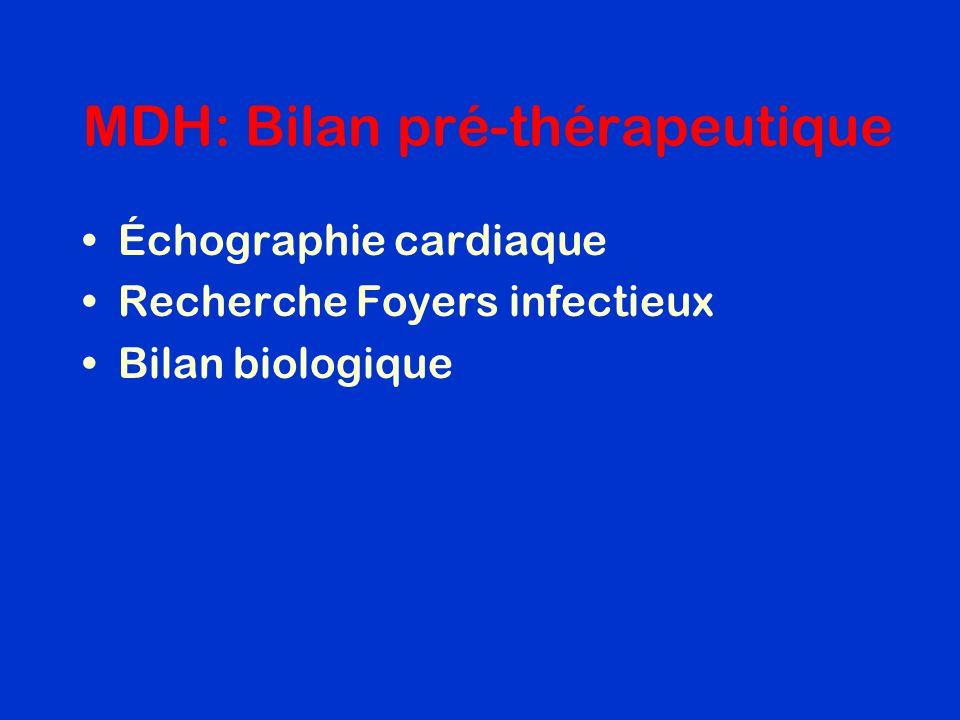 MDH: Bilan pré-thérapeutique