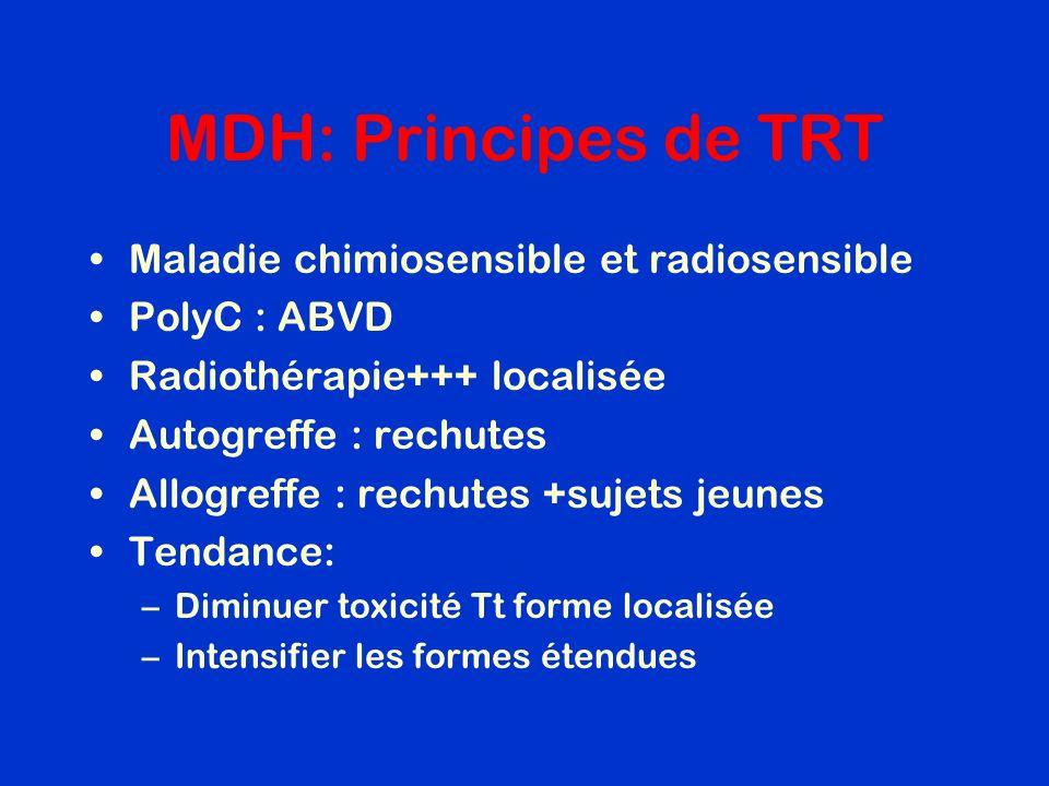 MDH: Principes de TRT Maladie chimiosensible et radiosensible