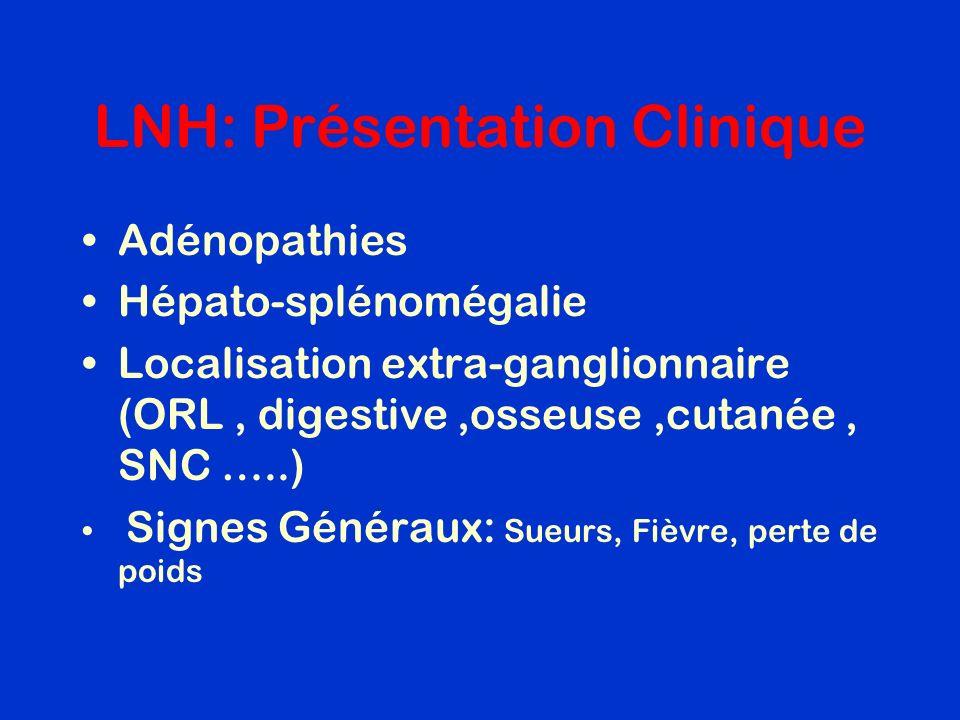 LNH: Présentation Clinique