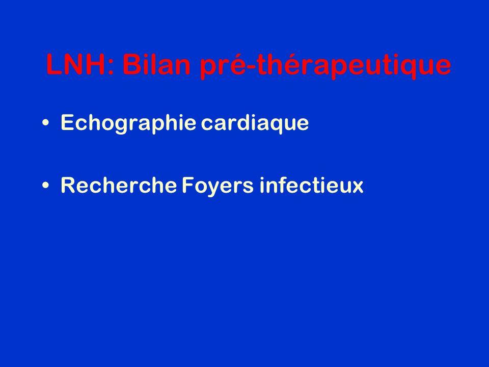 LNH: Bilan pré-thérapeutique