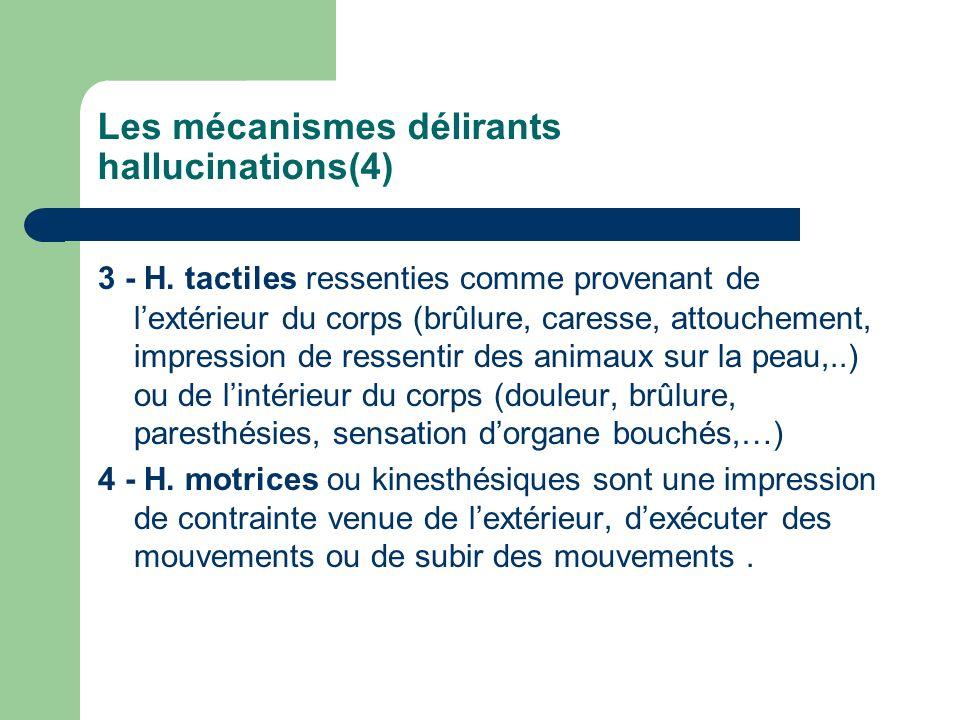 Les mécanismes délirants hallucinations(4)