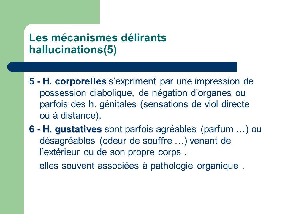 Les mécanismes délirants hallucinations(5)