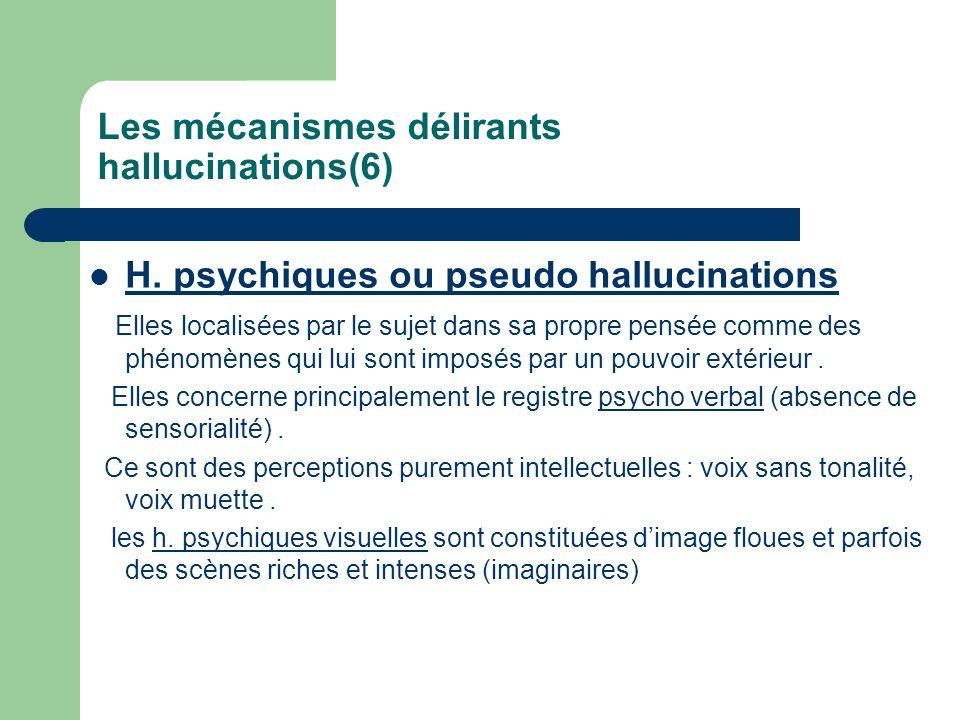 Les mécanismes délirants hallucinations(6)