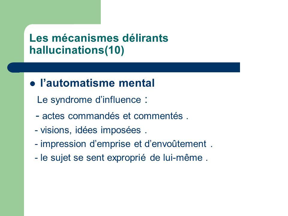 Les mécanismes délirants hallucinations(10)