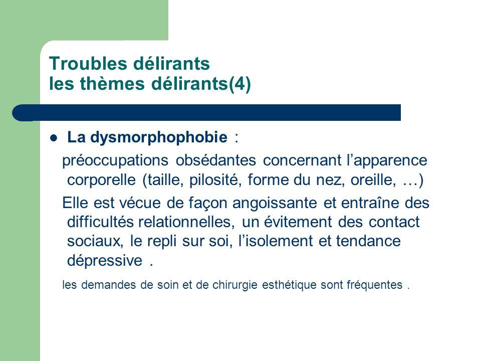 Troubles délirants les thèmes délirants(4)