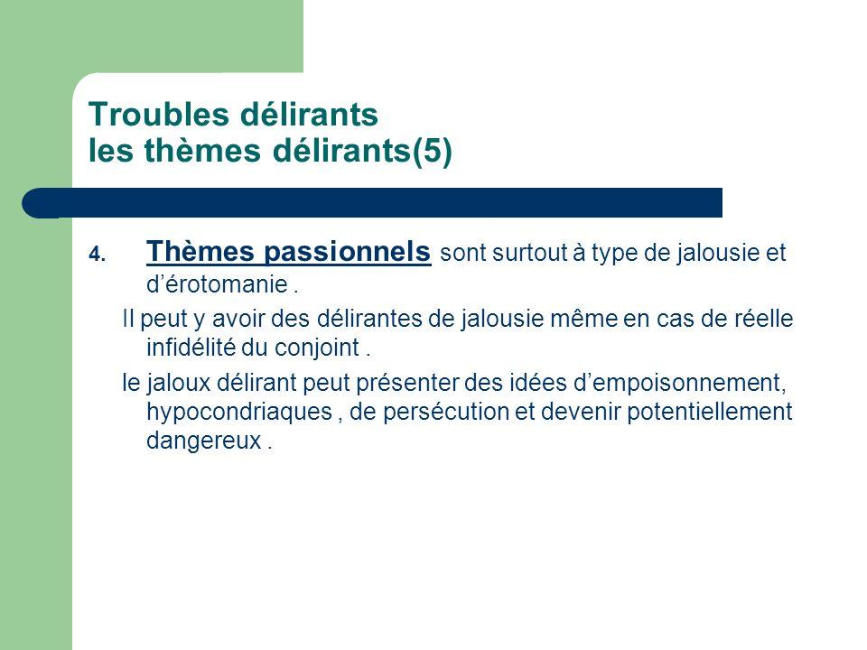 Troubles délirants les thèmes délirants(5)