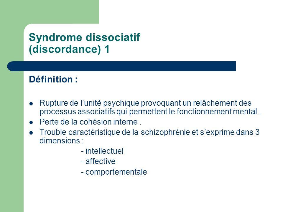 Syndrome dissociatif (discordance) 1