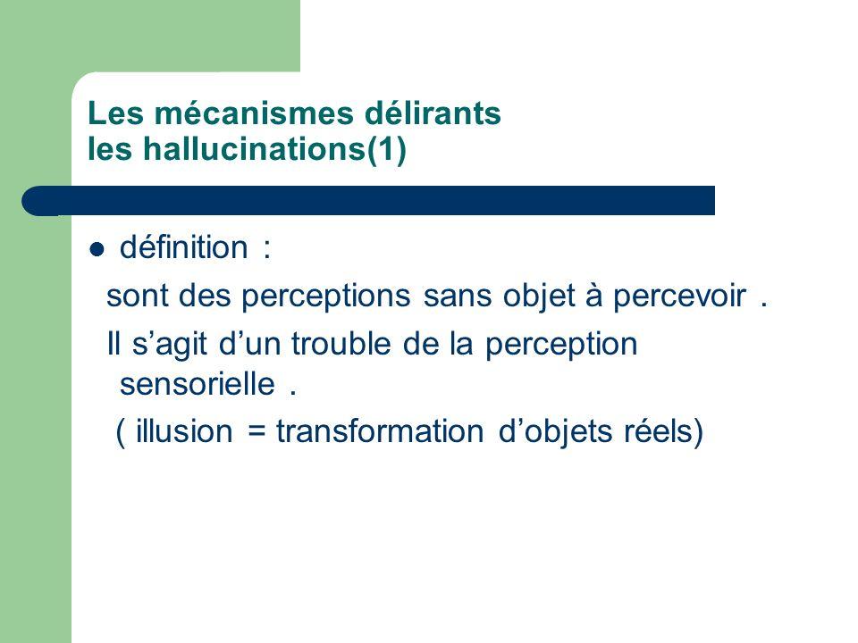 Les mécanismes délirants les hallucinations(1)
