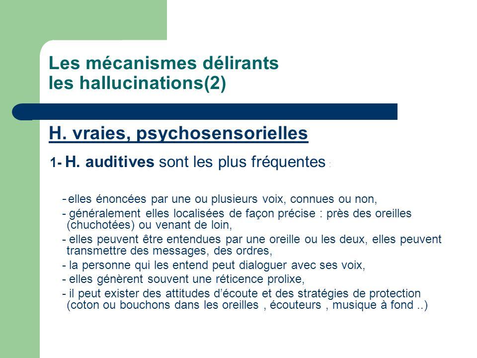Les mécanismes délirants les hallucinations(2)
