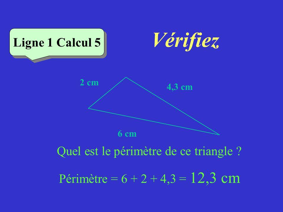 Quel est le périmètre de ce triangle