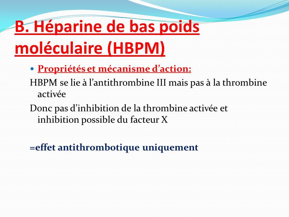 B. Héparine de bas poids moléculaire (HBPM)