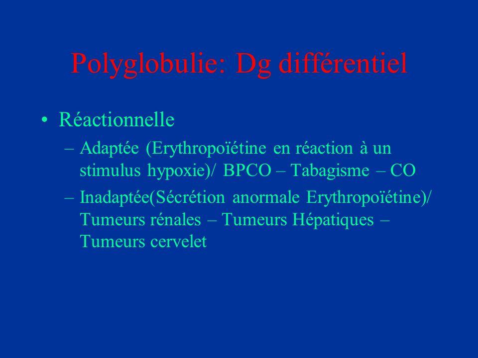 Polyglobulie: Dg différentiel