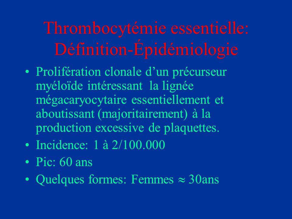 Thrombocytémie essentielle: Définition-Épidémiologie