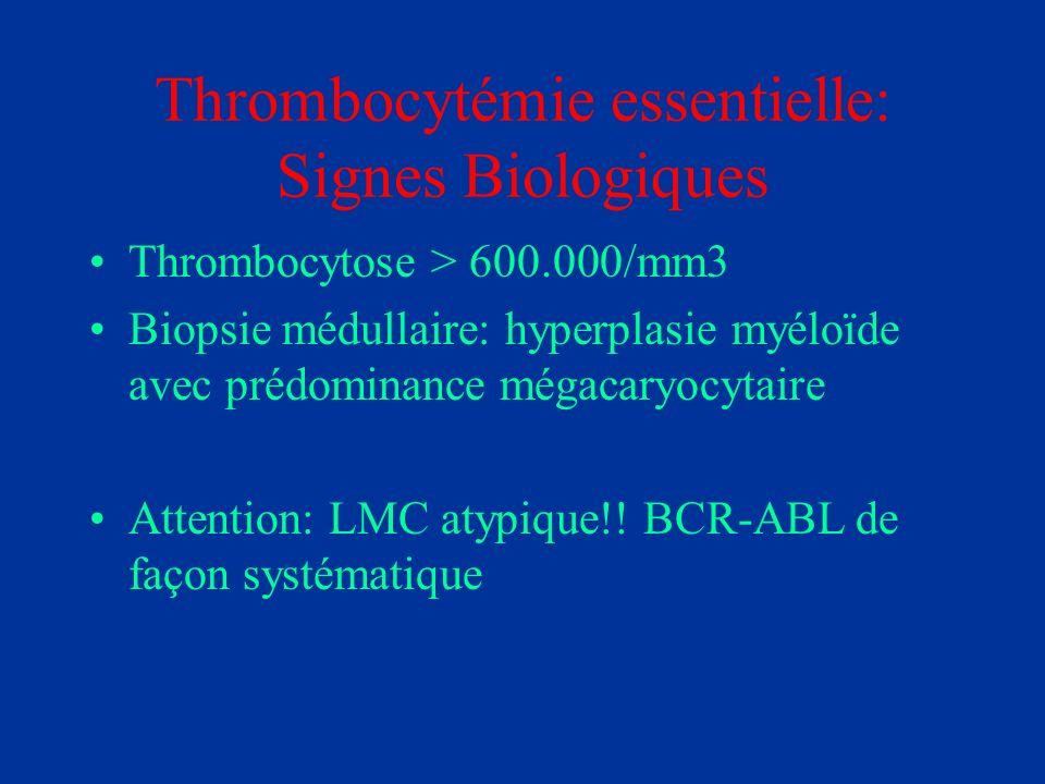 Thrombocytémie essentielle: Signes Biologiques