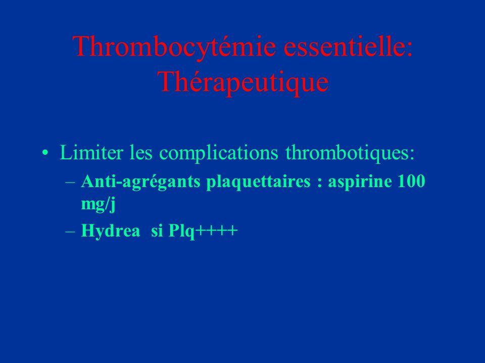 Thrombocytémie essentielle: Thérapeutique