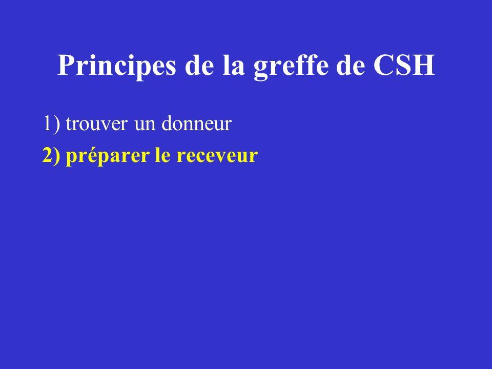 Principes de la greffe de CSH